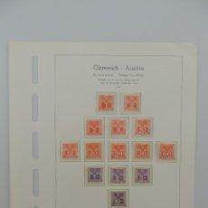 Timbres: HOJA CON SELLOS DE AUSTRIA – AÑO 1945. Lote 224430456