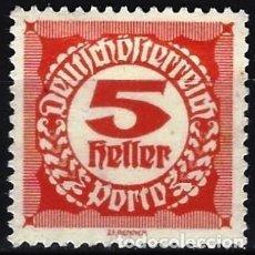 Timbres: AUSTRIA 1920 - SELLO DE FRANQUEO, NUMÉRICOS, NUEVO DISEÑO - MINT SIN GOMA. Lote 225851538