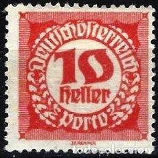 Timbres: AUSTRIA 1920 - SELLO DE FRANQUEO, NUMÉRICOS, NUEVO DISEÑO - MINT SIN GOMA. Lote 225851643