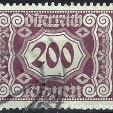 Timbres: AUSTRIA 1922-24 - SELLO DE FRANQUEO, NUMÉRICOS, NUEVO DISEÑO - USADO. Lote 225857277