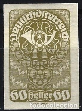 AUSTRIA 1919-20 - SELLO DIARIOS, SIN DENTAR - MH* (Sellos - Extranjero - Europa - Austria)