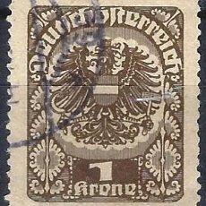 Francobolli: AUSTRIA 1920-21 - ESCUDO DE ARMAS - USADO. Lote 226006020