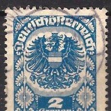 Francobolli: AUSTRIA 1920-21 - ESCUDO DE ARMAS - USADO. Lote 226006570