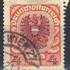 Francobolli: AUSTRIA 1920-21 - ESCUDO DE ARMAS - USADO. Lote 226007110