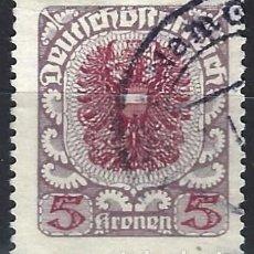 Francobolli: AUSTRIA 1920-21 - ESCUDO DE ARMAS - USADO. Lote 226007390