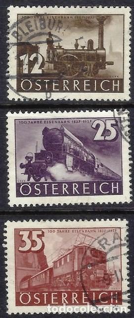 AUSTRIA 1937 - CENTENARIO DE LOS FERROCARRILES AUSTRIACOS, S.COMPLETA - USADOS (Sellos - Extranjero - Europa - Austria)