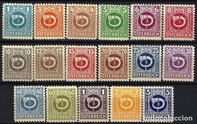 AUSTRIA 1945 - CUERNO POSTAL, S.COMPLETA - MNH** (Sellos - Extranjero - Europa - Austria)