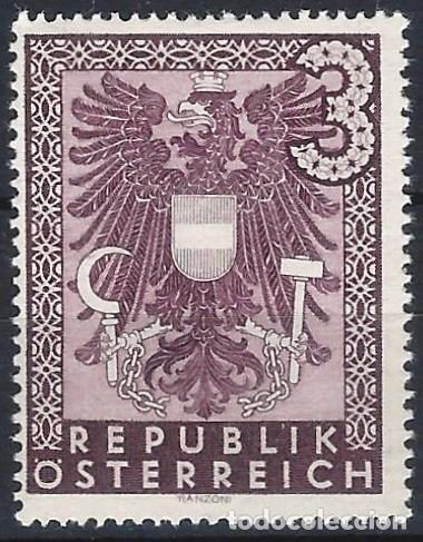 AUSTRIA 1945 - GOBIERNO DE RENNER, 3 MK. - MH* (Sellos - Extranjero - Europa - Austria)