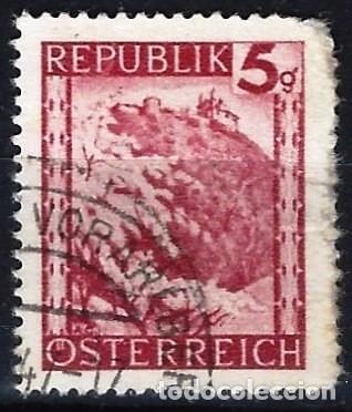 AUSTRIA 1945-47 - PAISAJES, LEOPOLDSBERG - USADO (Sellos - Extranjero - Europa - Austria)