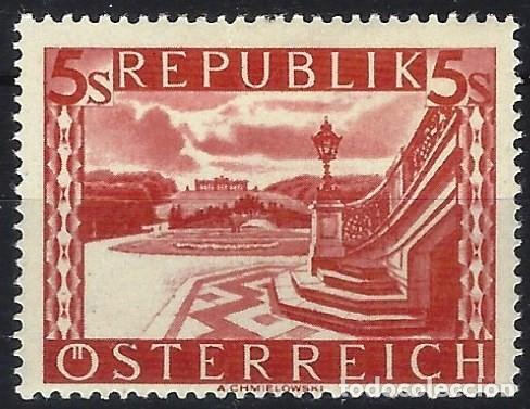 AUSTRIA 1945-47 - PAISAJES, SCHÖNBRUNN, SCHLOSSPARK MIT GLORIETTE (WIEN) - MH* (Sellos - Extranjero - Europa - Austria)