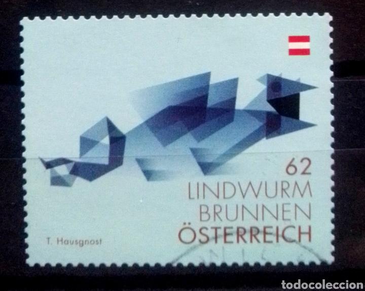 AUSTRIA RECIENTE ARTE CONTEMPORÁNEO SELLO USADO (Sellos - Extranjero - Europa - Austria)