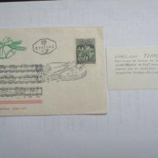 Sellos: SOBRE AUSTRIA AÑO 1967, PARTITURA MÚSICA CANCIÓN NOCHE DE PAZ. Lote 230429685