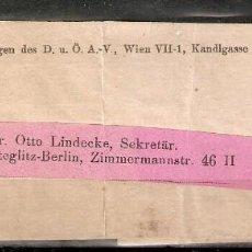 Sellos: AUSTRIA.1907. BANDA PERIÓDICO.. Lote 231449455