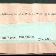 Sellos: AUSTRIA.1909. BANDA PERIÓDICO.. Lote 231449540