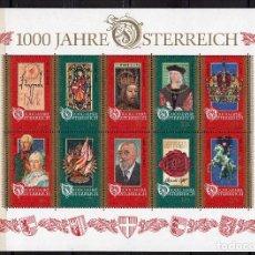 Sellos: AUSTRIA , , SOUVENIR-SHEET, MNH ,1996 , MICHEL BL12. Lote 231516080