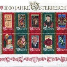 Sellos: AUSTRIA , , SOUVENIR-SHEET, CTO ,1996 , MICHEL BL12. Lote 231516185