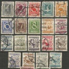 Sellos: AUSTRIA 1923-24 YVERT NUM. 331/350 SERIE COMPLETA USADA. Lote 232688270