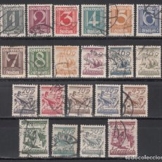 Sellos: AUSTRIA. 1925-27 YVERT Nº 331 / 350 ,. Lote 232905380
