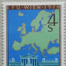 Sellos: 1978. AUSTRIA. 1403. CONFERENCIA EUROPEA DE COOPERACIÓN Y SEGURIDAD. SERIE COMPLETA. NUEVO.. Lote 233294110