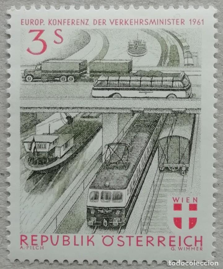 1961. AUSTRIA. 926. CONFERENCIA EUROPEA DEL TRANSPORTE EN VIENA. SERIE COMPLETA. NUEVO. (Sellos - Extranjero - Europa - Austria)