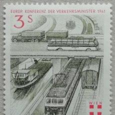 Sellos: 1961. AUSTRIA. 926. CONFERENCIA EUROPEA DEL TRANSPORTE EN VIENA. SERIE COMPLETA. NUEVO.. Lote 233294570