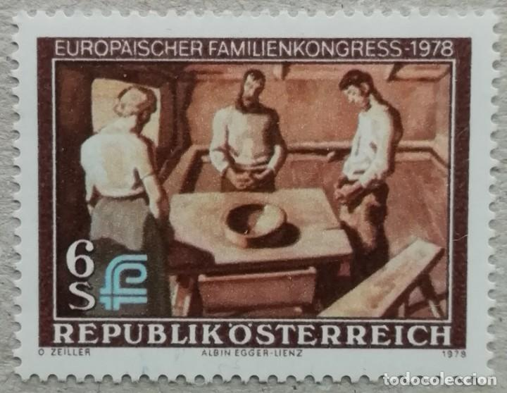 1978. AUSTRIA. 1416. CONGRESO EUROPEO DE LA FAMILIA. SERIE COMPLETA. NUEVO. (Sellos - Extranjero - Europa - Austria)