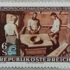 Sellos: 1978. AUSTRIA. 1416. CONGRESO EUROPEO DE LA FAMILIA. SERIE COMPLETA. NUEVO.. Lote 233295695