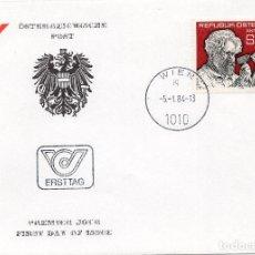 Sellos: AUSTRIA, ,CARTA, ,1984 , MICHEL 1764 , FDC. Lote 234944485