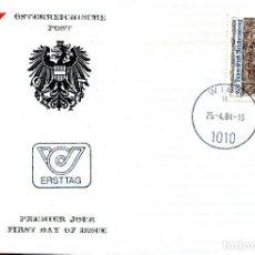 Sellos: AUSTRIA, ,CARTA, ,1984 , MICHEL 1767 , FDC. Lote 234944720