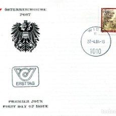 Sellos: AUSTRIA, ,CARTA, ,1984 , MICHEL 1768 , FDC. Lote 234944810