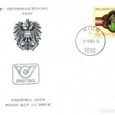 Sellos: AUSTRIA, ,CARTA, ,1984 , MICHEL 1769 , FDC. Lote 234944900
