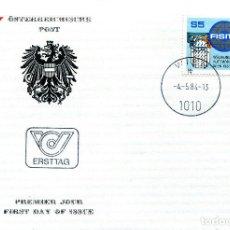 Sellos: AUSTRIA, ,CARTA, ,1984 , MICHEL 1770 , FDC. Lote 234944960