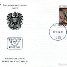 Sellos: AUSTRIA, ,CARTA, ,1984 , MICHEL 1773 , FDC. Lote 234945340