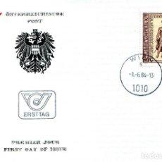 Sellos: AUSTRIA, ,CARTA, ,1984 , MICHEL 1778 , FDC. Lote 234945785
