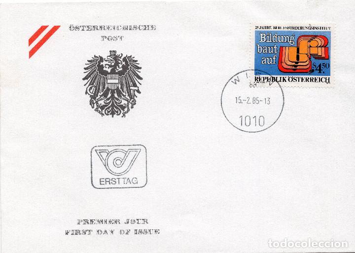AUSTRIA, ,CARTA, ,1985 , MICHEL 1804 , FDC (Sellos - Extranjero - Europa - Austria)