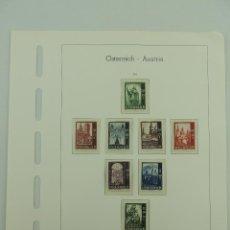 Sellos: HOJA CON SELLOS DE AUSTRIA – AÑO 1948. Lote 235517725