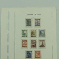 Sellos: HOJA CON SELLOS DE AUSTRIA – AÑO 1948. Lote 235517975
