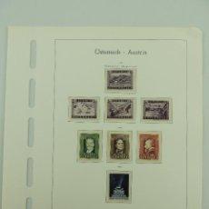Sellos: HOJA CON SELLOS DE AUSTRIA – AÑOS 1947/48. Lote 235518335