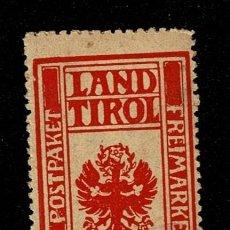 Sellos: CL8-1 AUSTRIA POSTPAKET FREIMARKE LAND TIROL SELLO PARA PAQUETE POSTAL DEL TIROL USADO. Lote 235995155