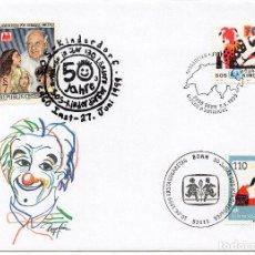 Sellos: AUSTRIA, 1994 ,CARTA, MICHEL , 2128 + CH 1686 + DE 2062. Lote 236536950
