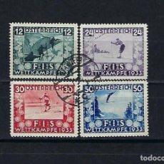 Sellos: AUSTRIA. AÑO 1939. CONGRESO DE LA FEDERACIÓN INTERNACIONAL DE ESQUI.. Lote 240224620