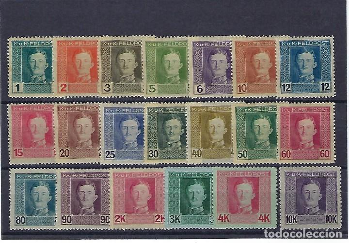 AUSTRIA - HUNGRÍA. AÑOS 1917 - 18. CARLOS I. (Sellos - Extranjero - Europa - Austria)
