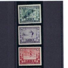 Sellos: AUSTRIA. AÑO 1939. CONGRESO DE LA FEDERACIÓN INTERNACIONAL DE ESQUÍ.. Lote 242490255