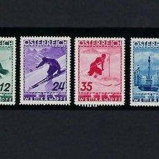 Sellos: AUSTRIA. AÑO 1936. CAMPEONATO DEL MUNDO DE ESQUÍ.. Lote 242490865