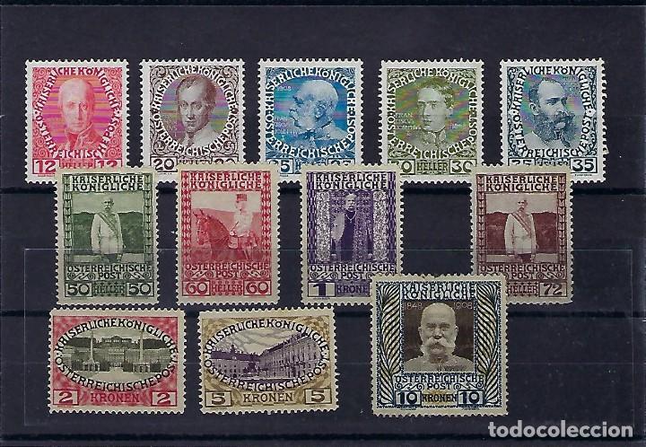 AUSTRIA. AÑOS 1908-13.FRANCISCO JOSÉ I. (Sellos - Extranjero - Europa - Austria)