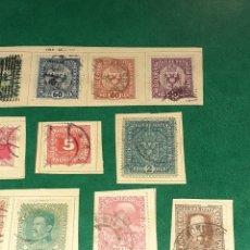 Timbres: LOTE DE 14 SELLOS AUSTRIA. NINGÚN REPETIDO. ANTERIORES A 1930. CIRCULADOS. CON CHARNELA. Lote 243265655