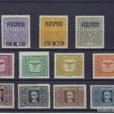 Sellos: AUSTRIA. AÑOS 1918 Y 1922-24. HALCÓN Y WILHELM KRESS. AÉREOS.. Lote 244279175