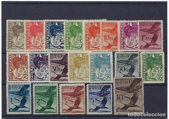 AUSTRIA. AÑOS 1925 - 30. AVIADOR Y GRULLA. (Sellos - Extranjero - Europa - Austria)