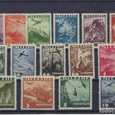 Sellos: AUSTRIA. AÑO 1935. AVIÓN Y PAISAJES. SERIE AÉREA.. Lote 244307085