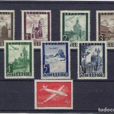 Sellos: AUSTRIA. AÑOS 1947 Y 1958. VISTAS Y AVIÓN. SERIES AÉREAS.. Lote 244307860